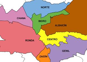 zona de tapas en Granada